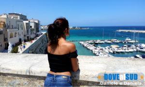 Foto panorama porto di Otranto e mare