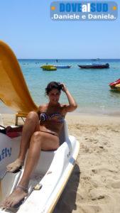 Marina di Pescoluse giochi in mare