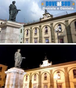 Piazza con statua di Orazio a Venosa