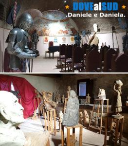 Sala delle armi e sculture in legno
