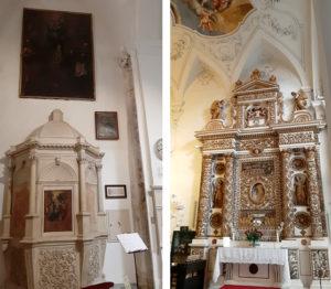 Chiesa Madre di Copertino con altare e fonte battesimale