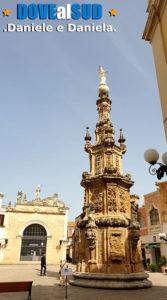 Guglia dell'Immacolata e Sedile in Piazza Salandra a Nardò