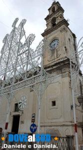 Sedile e Torre dell'Orologio a Galatone