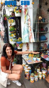 Negozi di ceramiche e souvenir a Positano