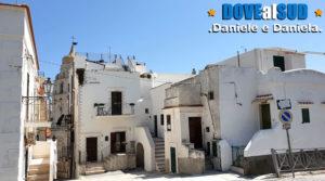 Città vecchia di Vieste con casette bianche