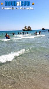 Spiaggia faraglioni Le Due Sorelle