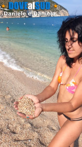 Ghiaia sabbia dorata mare del Gargano