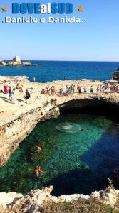 Grotta della Poesia piscina naturale in Puglia