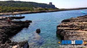 Porto Selvaggio mare con scogli