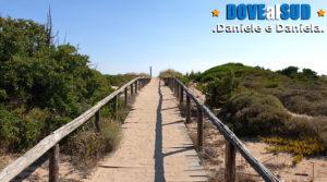 Sentiero di accesso dune spiagge di Maruggio