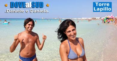 Spiaggia di Torre Lapillo e mare (Salento, Puglia)