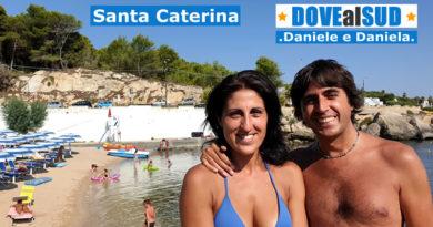 Spiaggia di Santa Caterina e mare (Salento, Puglia)