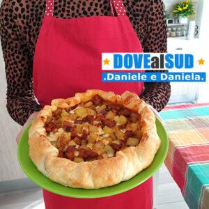Ricetta pizza rustica patate e salsiccia